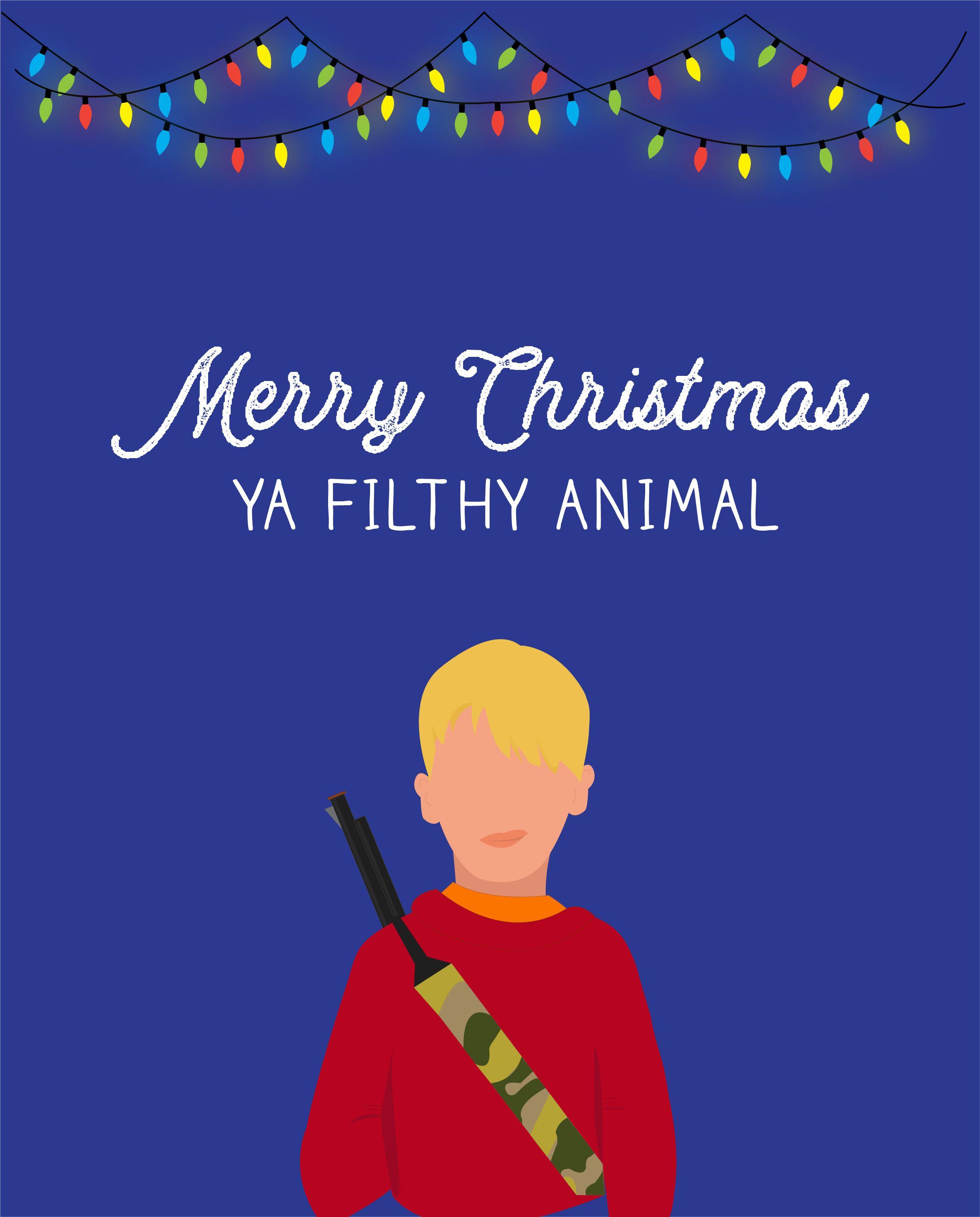07da0da2 Merry Christmas Ya Filthy Animal || Home Alone || Christmas Decorations