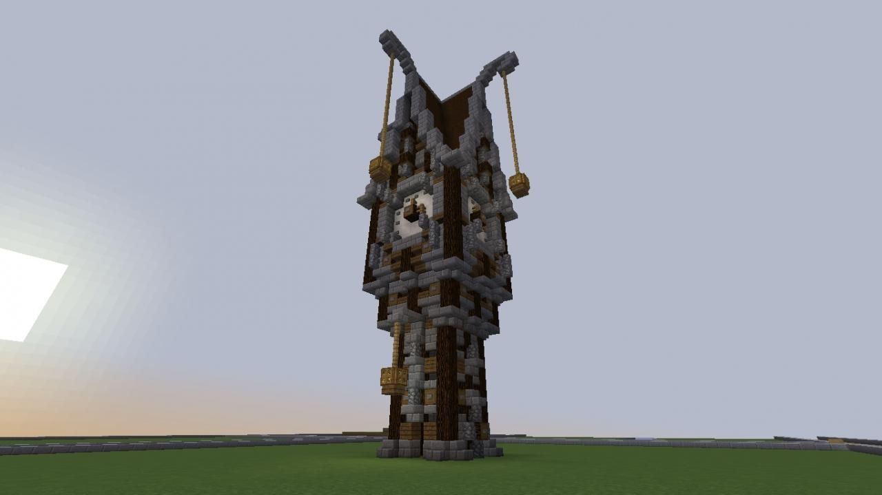Steampunk Clock Tower Minecraft Project Steampunk Clock Minecraft Projects Clock Tower