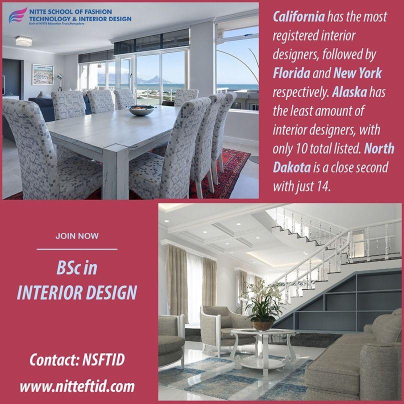Interiordesigning California Has The Most Registered Interiordesigners Followed By Flor Interior Design Degree Study Interior Design Interior Design School