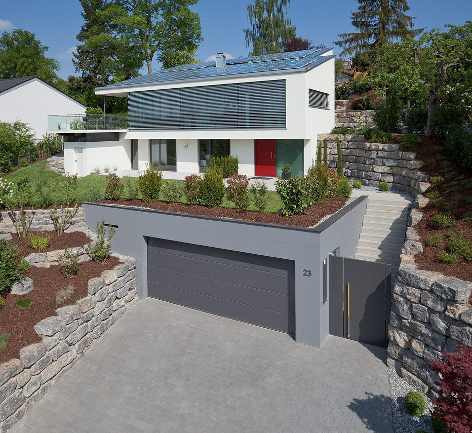 Haus Am Hang Netto Plus Energiehaus F 2011 Stuttgart Contemporary Garages