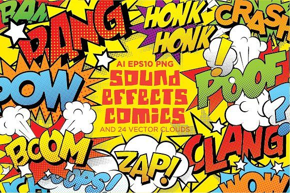 comics sound effects set1