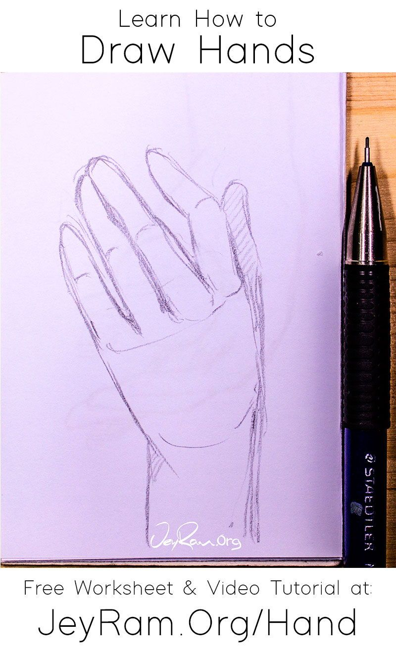 How To Draw Hands Jeyram Art In 2020 How To Draw Hands Sketching Tips Free Hand Drawing