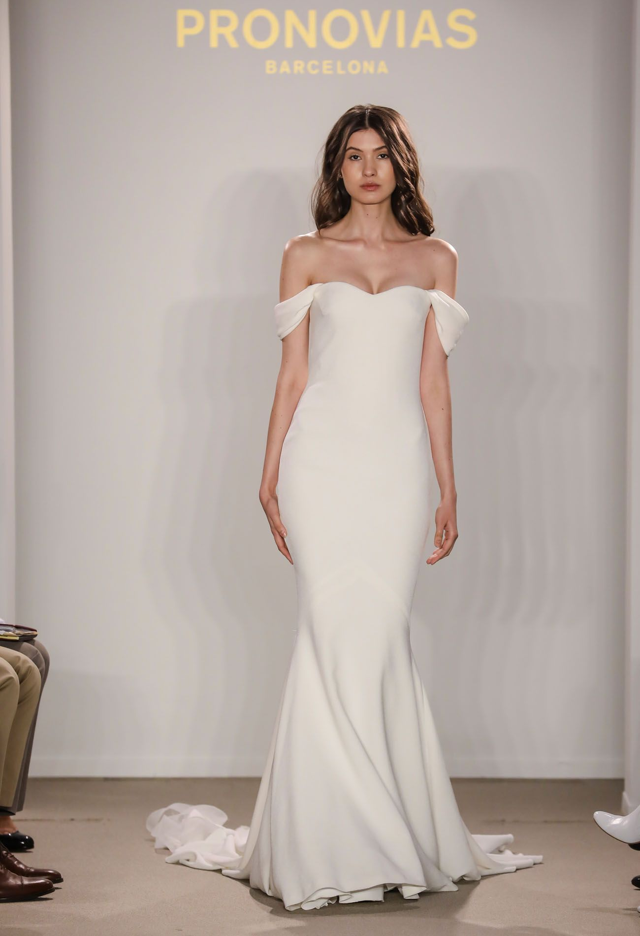 2018 Atelier Pronovias Preview Collection // modern and sophisticated off  the shoulder wedding dress