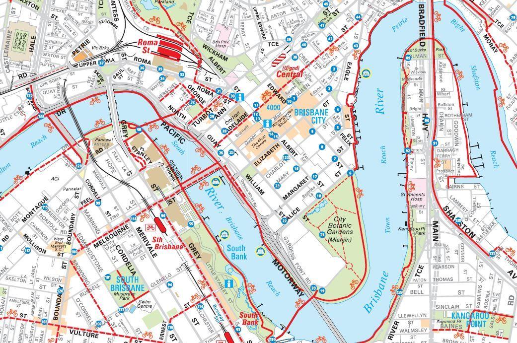 awesome Map of Brisbane Tourist Travelquaz Pinterest Brisbane