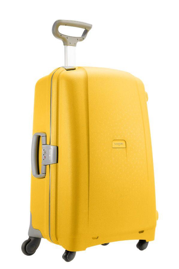 Samsonite Aeris Spinner 82cm Yellow from Luggage UK | Yellow Home ...