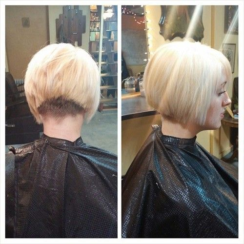 Inverted Bob With A Clippered Nape