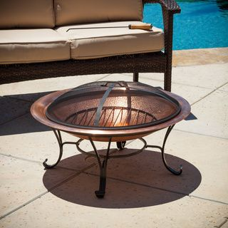 Marconi Copper Fire Pit Overstock Shopping Great Deals On