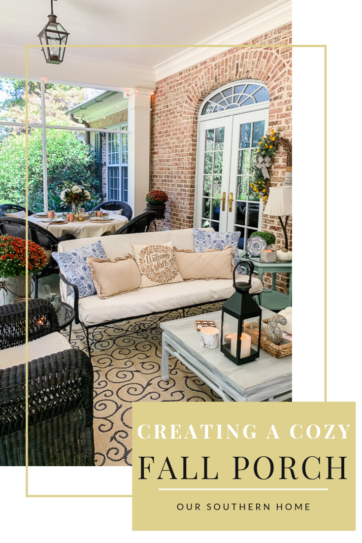 Creating a Cozy Fall Porch Tips for creating a cozy fall porch or outdoor space!