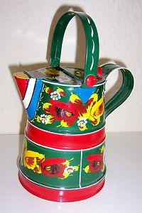 Small Red 1 Gal Narrowboat Watering can-Traditional Style
