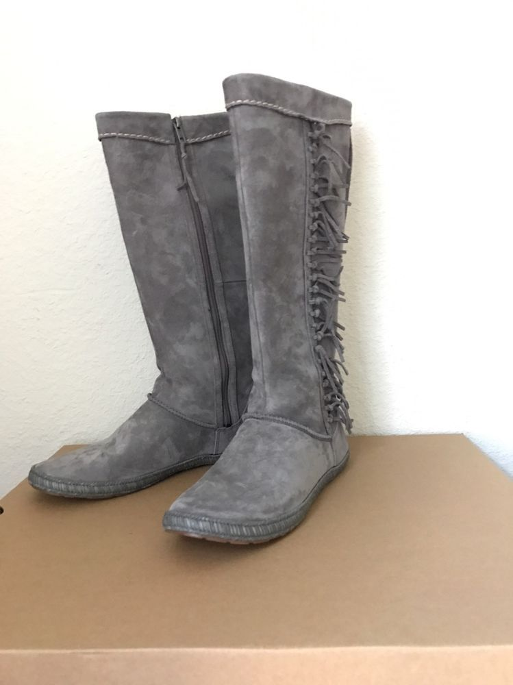 bfb40a0241e NIB UGG® Women s Mammoth Fringe Tall Boots Charcoal 1008812 size 9.5   UGGAustralia  Boots  Casual