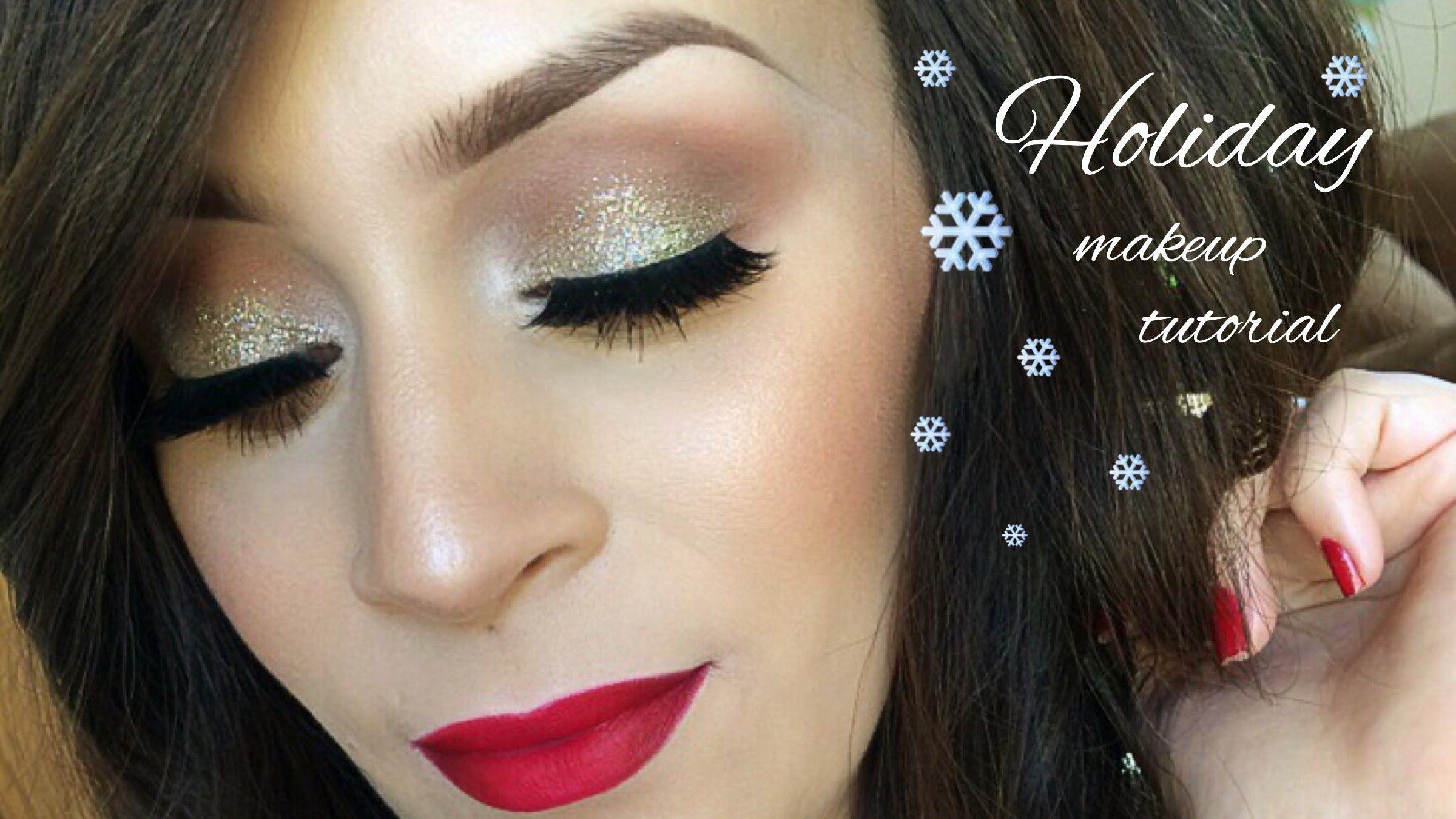 Holiday makeup tutorial l christmas make up pinterest holiday holiday makeup tutorial l christmas baditri Image collections