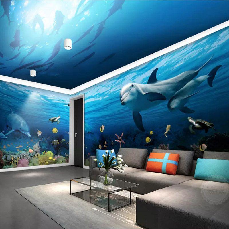 Blue Nature Water Sea Ocean Shark Wall Mural Photo Wallpaper GIANT WALL DECOR