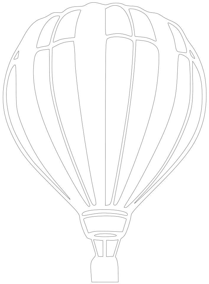 Hot Air Balloon Silhouette Art