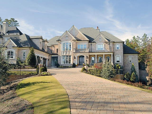 Professional Custom Dream Homes And Their Services Gorgeous Custom Home Builders Brick Wall Luxury Ext Luxury Homes Dream Houses Dream House Exterior Mansions