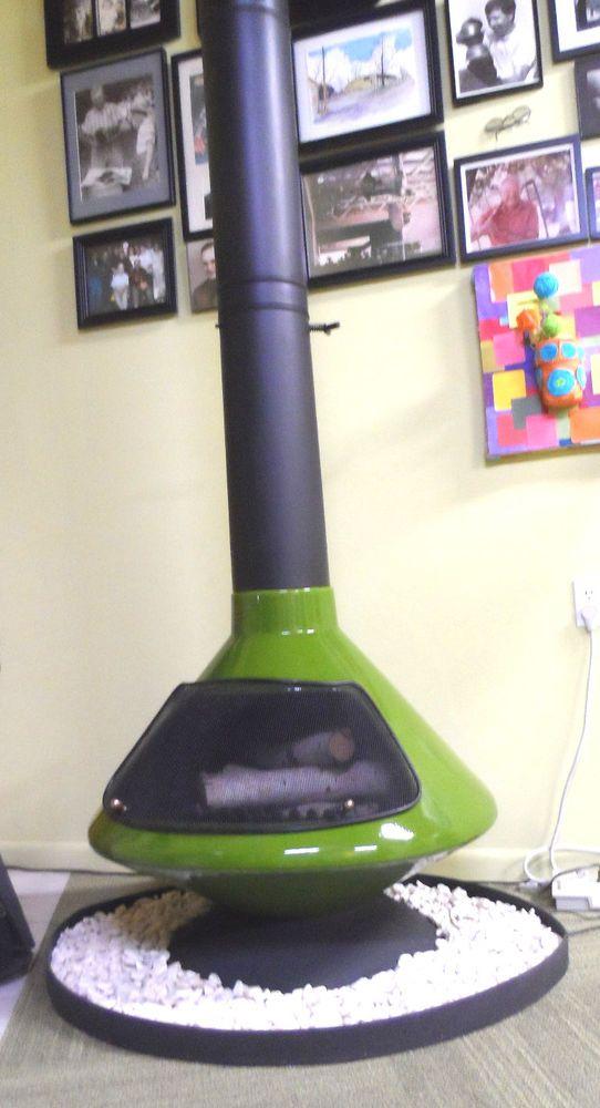 Mid Century Mod Olive Green Aztec Retro Cone Freestanding