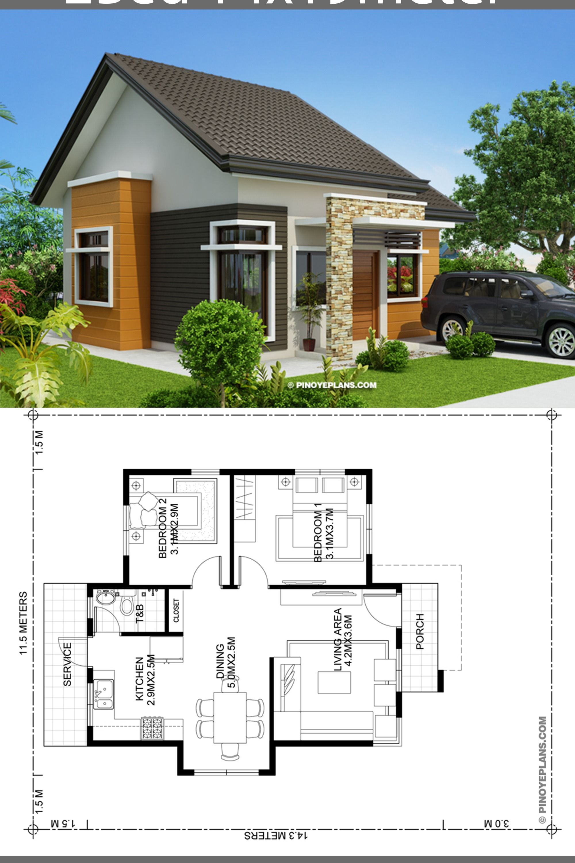 Pin By Amat On Design Denah Small House Design Plans House Plan Gallery Modern Bungalow House