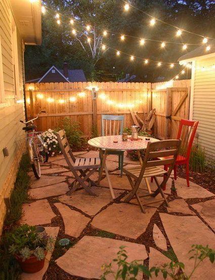 patios pequeños jardin Pinterest Yards, Backyard and Patios