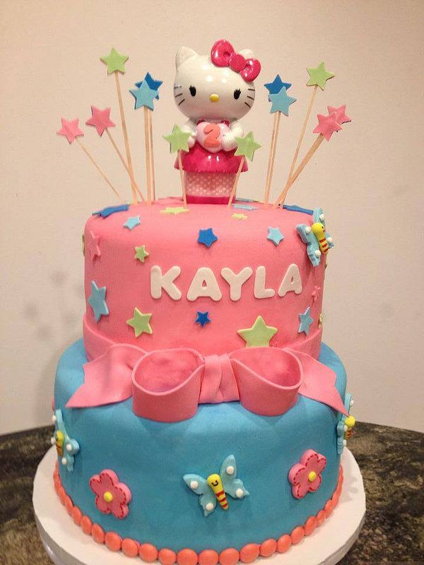 Hello Kitty 2 Tier Bday Birthday Cakes Pinterest Hello Kitty