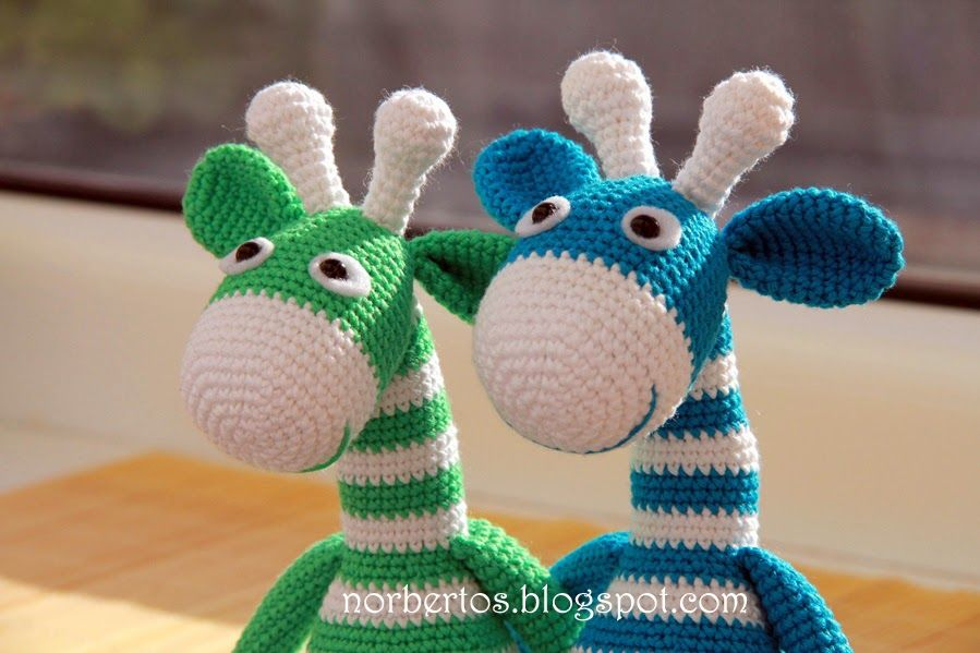 Crochet jirafa rayas