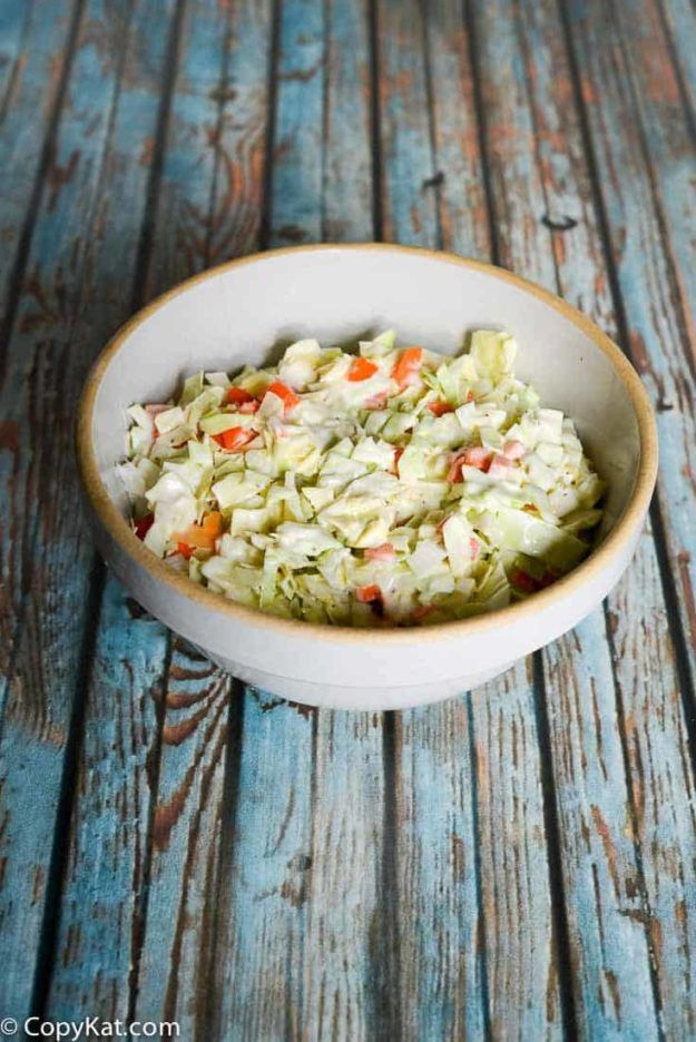 Captain Ds Cole Slaw - enjoy this restaurant favorite at home. #tacosidedishes