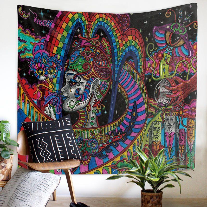 Mandala Tapestry Headboard