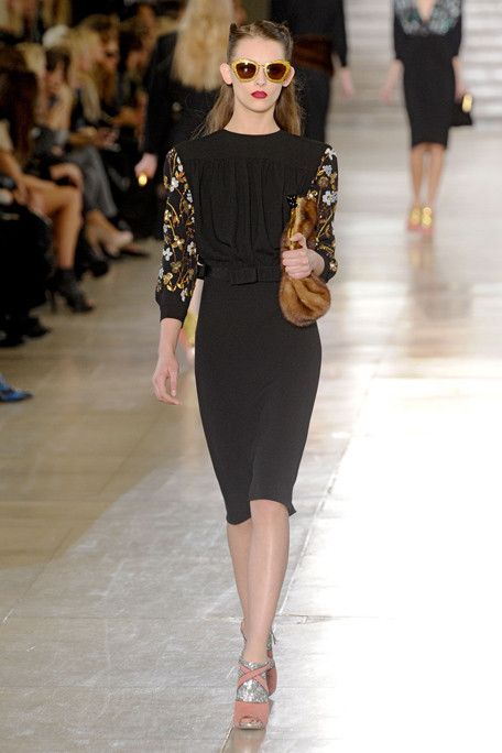 Miu Miu Fall 2011  Love the '40s style paired with those outrageous glittery heels!