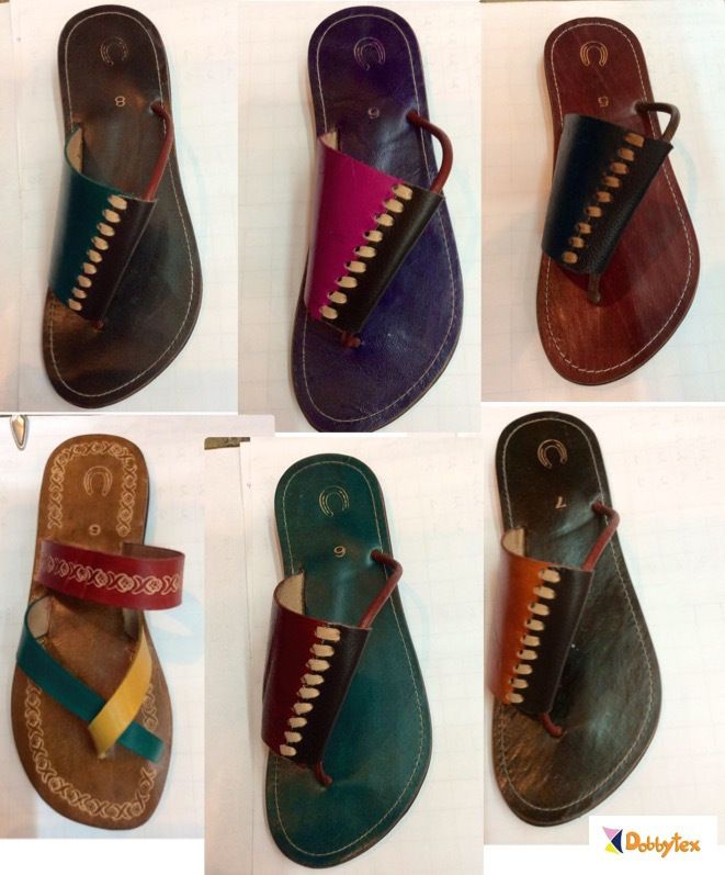 African Men Leather sandals Hmong From