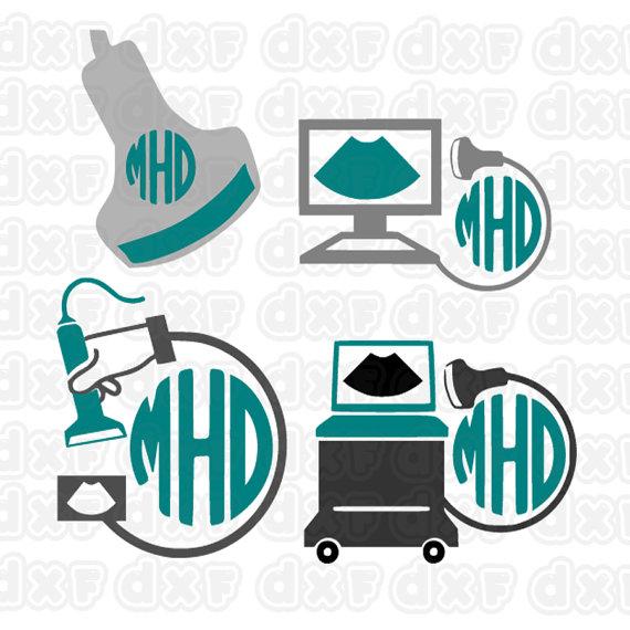 Radiologist Radiology Svg Cuttable Frames   Monogram svg ...   Rad Tech Frame