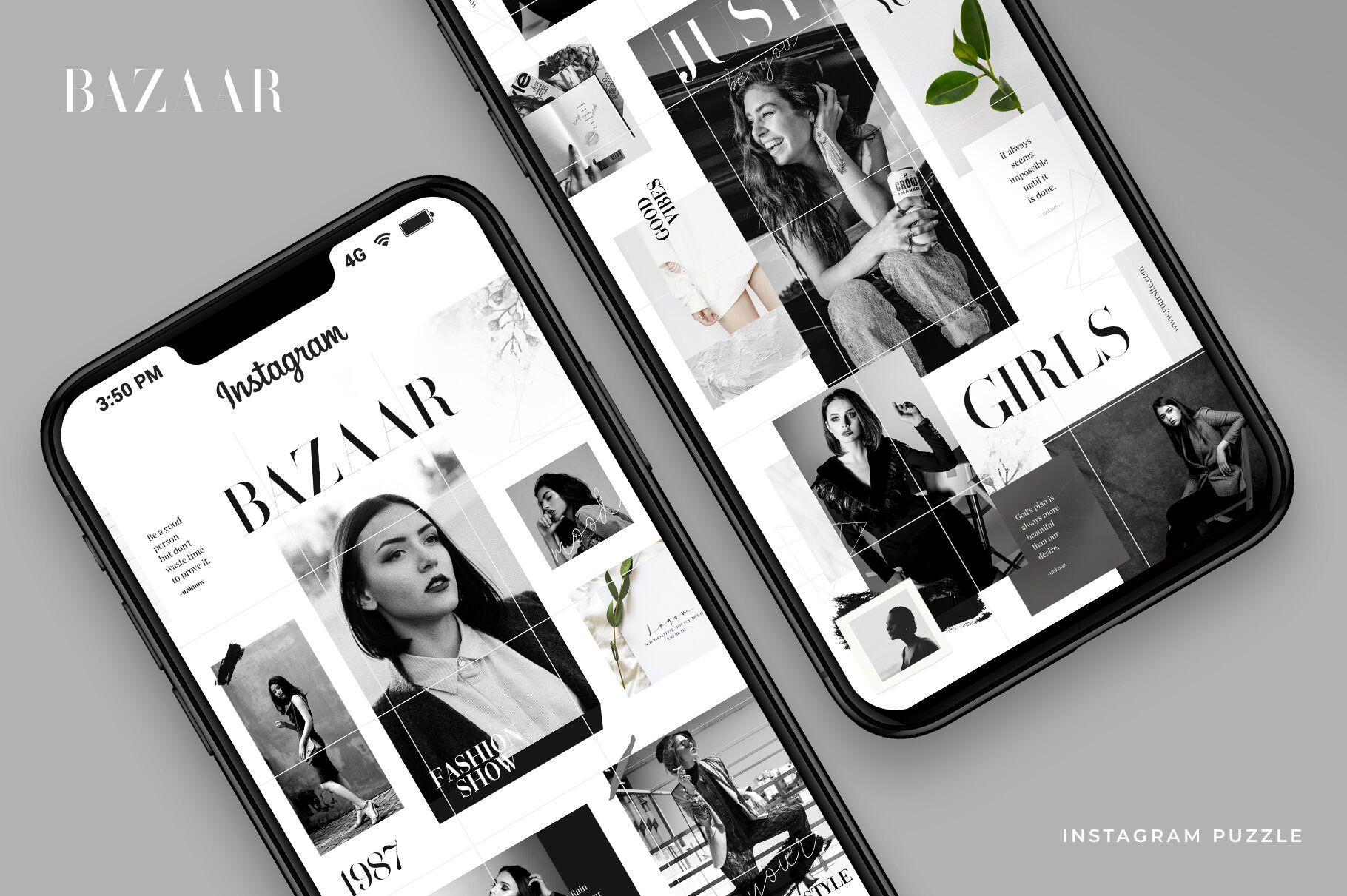 Bazaar Instagram puzzle By helloxandro