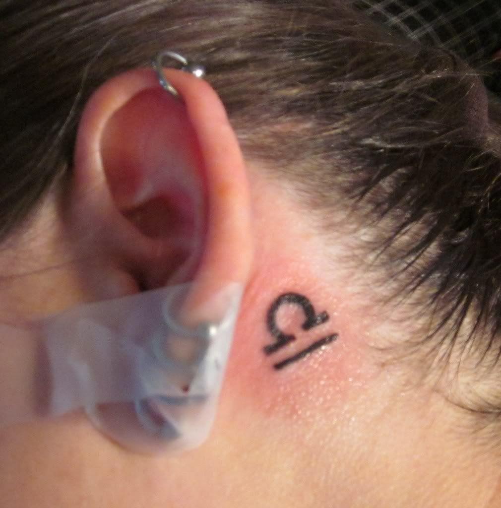 libra tatoo behind ear CUTE Libra tattoo, Behind ear
