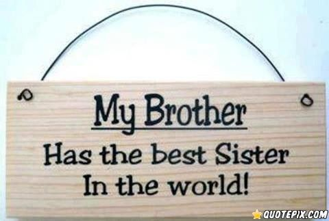 Brother And Sister Quotes My Brother Has The Best Sister In The