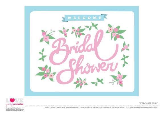 Free Bridal Shower Party Printables From Love Party Printables Bridal Shower Welcome Sign Bridal Shower Printables Bridal Shower Cards
