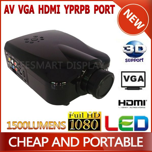 Find More Projectors Information about Newest!! Micro DVD Projector High Brightness 1500lumens,Perfect For Watching Movies,Searching Internet,Play Games,High Quality dvd projector screen,China dvd projector sale Suppliers, Cheap projector portable from Shenzhen Seesmart Display Technology Co.,Ltd  on Aliexpress.com
