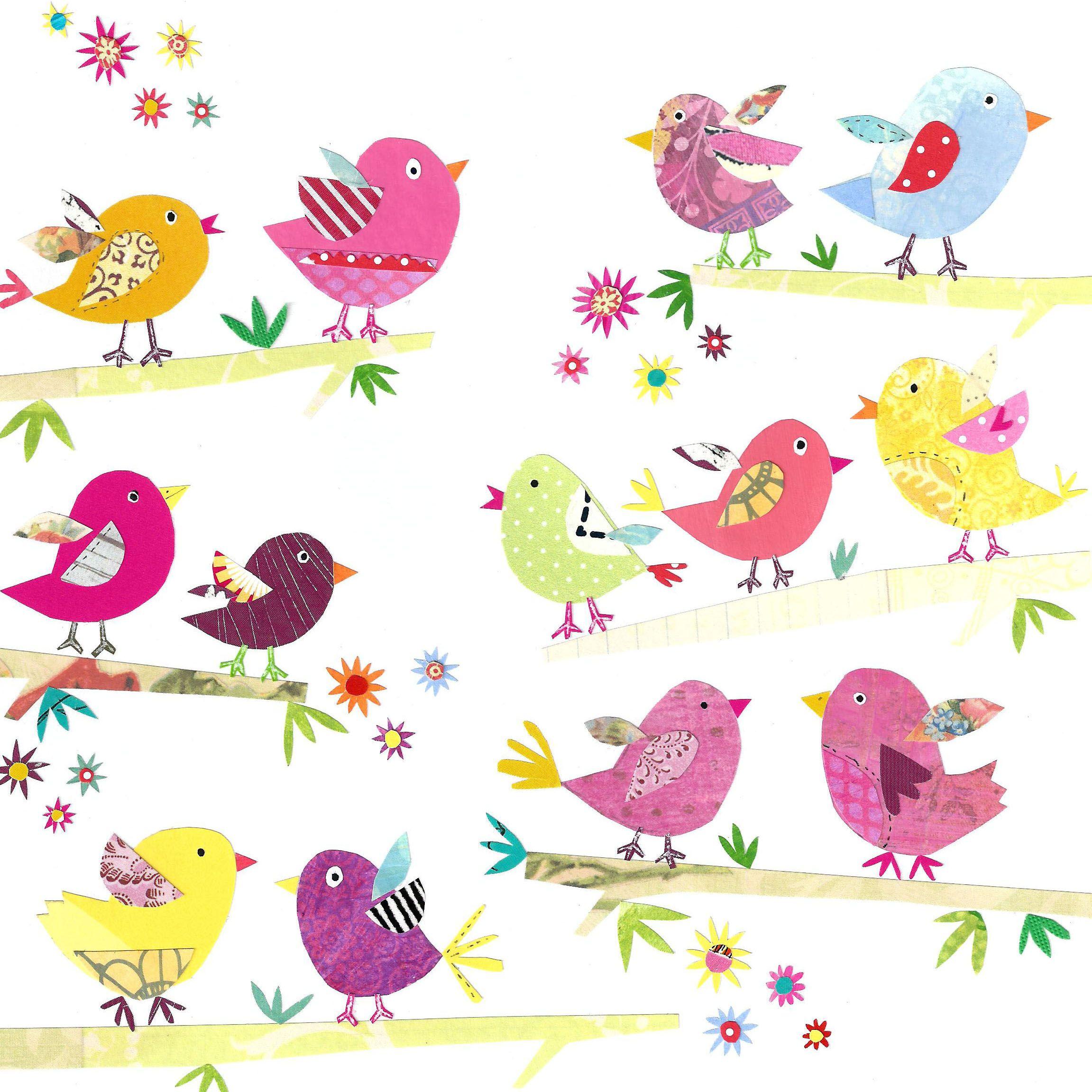 прикольные птички рисунок если