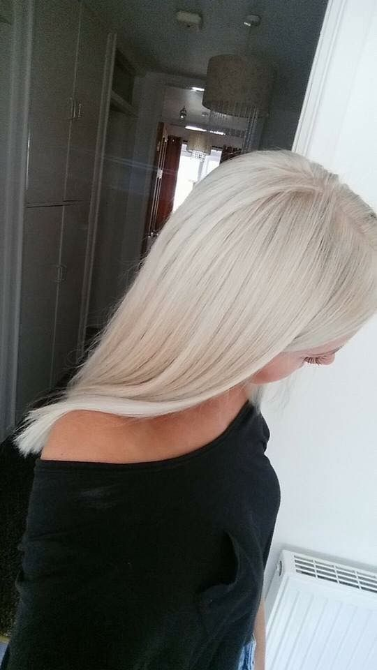 Ice blonde ... Love wella toners