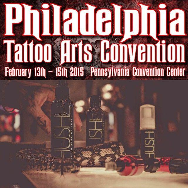 Philly!!! Come stop by our booth this weekend at the #PhiladelphiaTattooConvention! Get tattys from @thekingsfury, @travisbrown918 and @legion_avegno; and meet all the cool kids! 😄 #hushanesthetic #tattoo #tattoos #inked #tatted #philadelphia #philly #tattooed #philadelphiatattooarts #philadelphiatattoo #philadelphiatattoos #phillytattoo #phillytattooconvention  #philadelphiatattooartsconvention