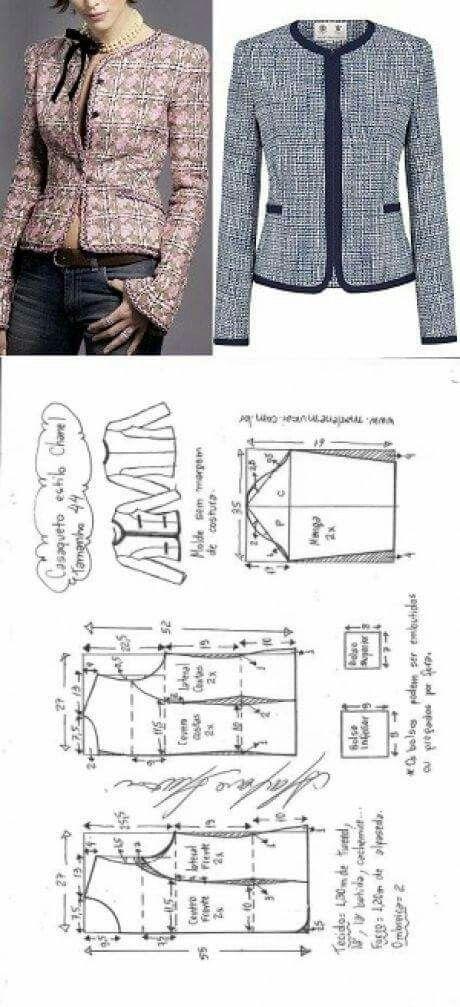 Chaquetas | Patrones | Pinterest | Costura, Ropa y Vestido reciclado