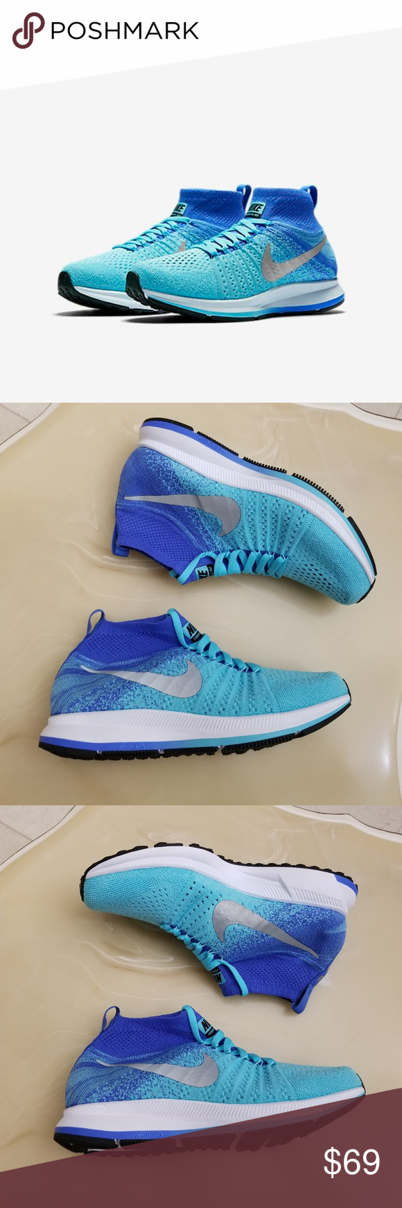 low priced 5455b edac2 Nike Zoom Pegasus All Out Flyknit ~ Firm Price - No Offers ~ New Without  Box, 100% Authentic, Guaranteed Nike Zoom Pegasus All Out Flyknit Kids  Youth Size ...