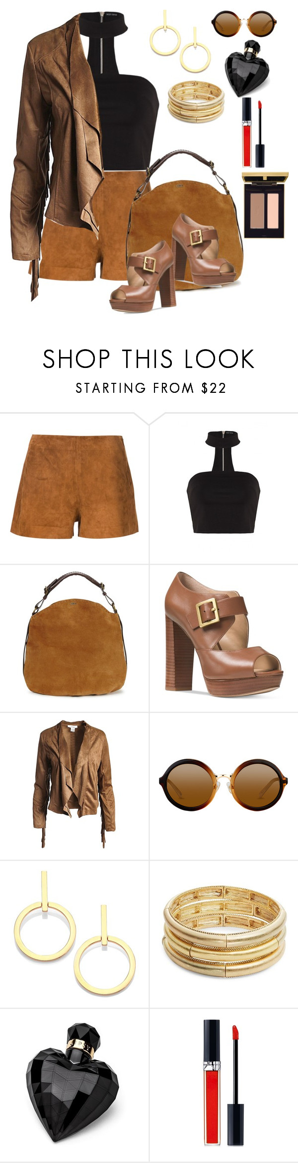 """Friday nite out!"" by stelladallas6369 ❤ liked on Polyvore featuring rag & bone, UGG, Michael Kors, Sans Souci, Vita Fede, Nanette Lepore, Lipsy and Christian Dior"