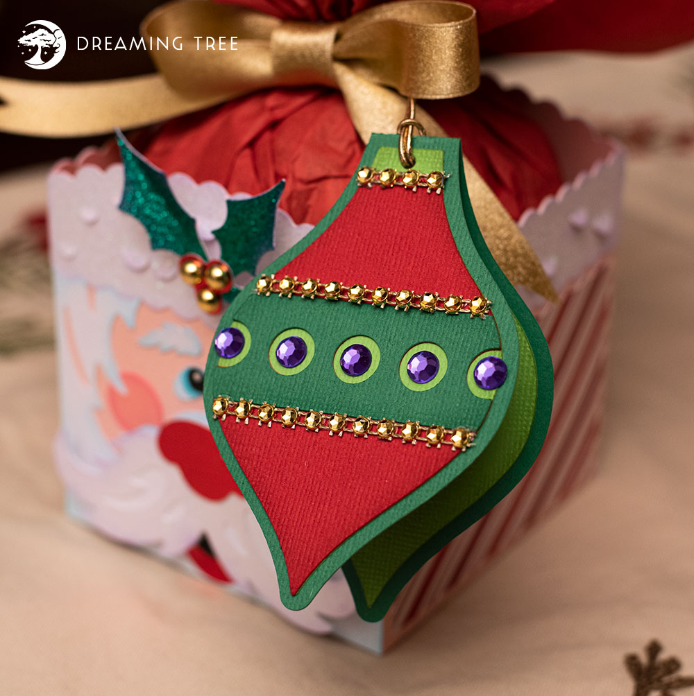 Ornament Gift Tag (Free SVG) Free gift tags, Gift tags