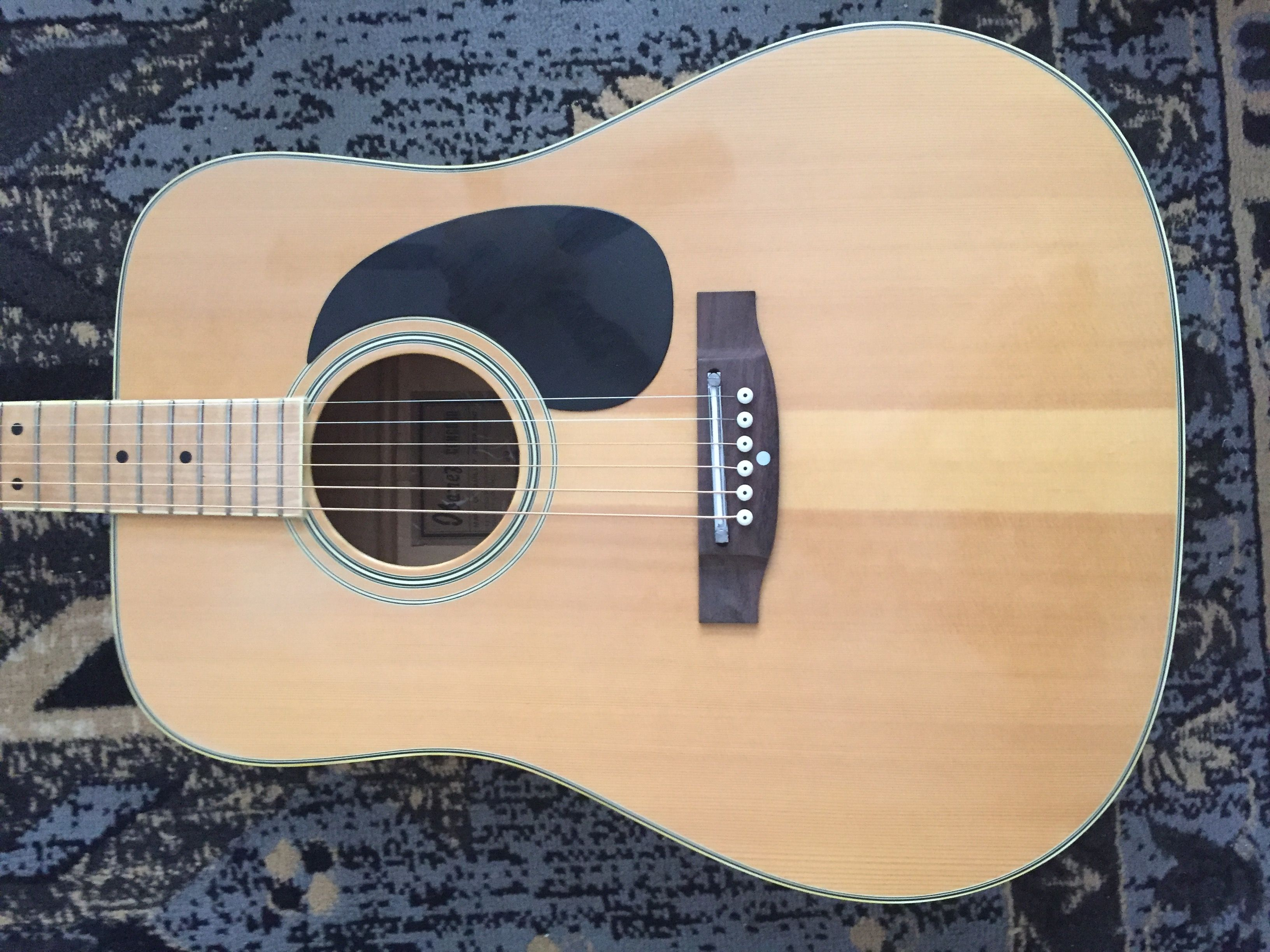 Adjustable Bridge Replacement On An Awesome 70s Ibanez Concord 699 She S An All Maple Beauty Other Than The New Rosewood Bridge Music Online Ibanez Acoustic