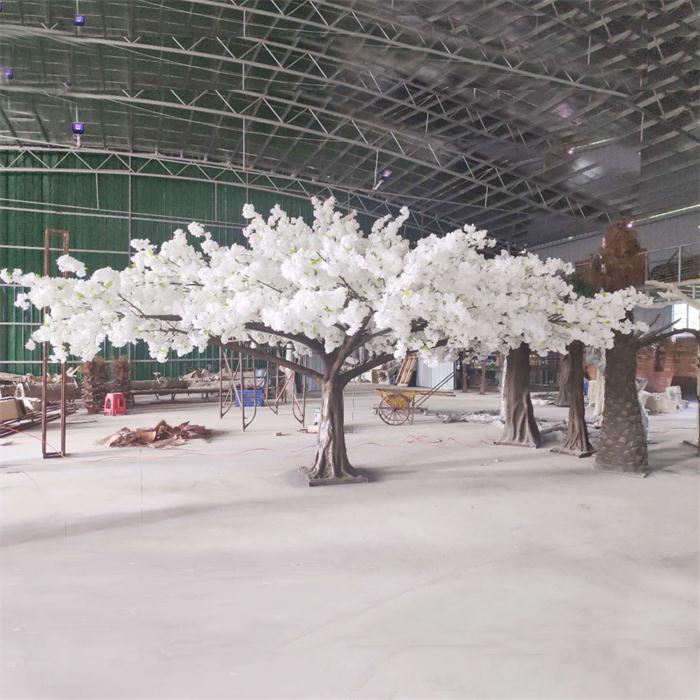 3m High White Big Canopy Fake Cherry Blossom Tree Artificial Cherry Blossom Tree Cherry Blossom Tree White Blossom Tree