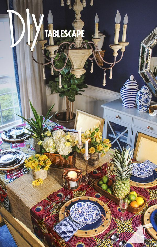 How to create a festive island tablescape foodie finds for Mesa de comedor elegante lamentable