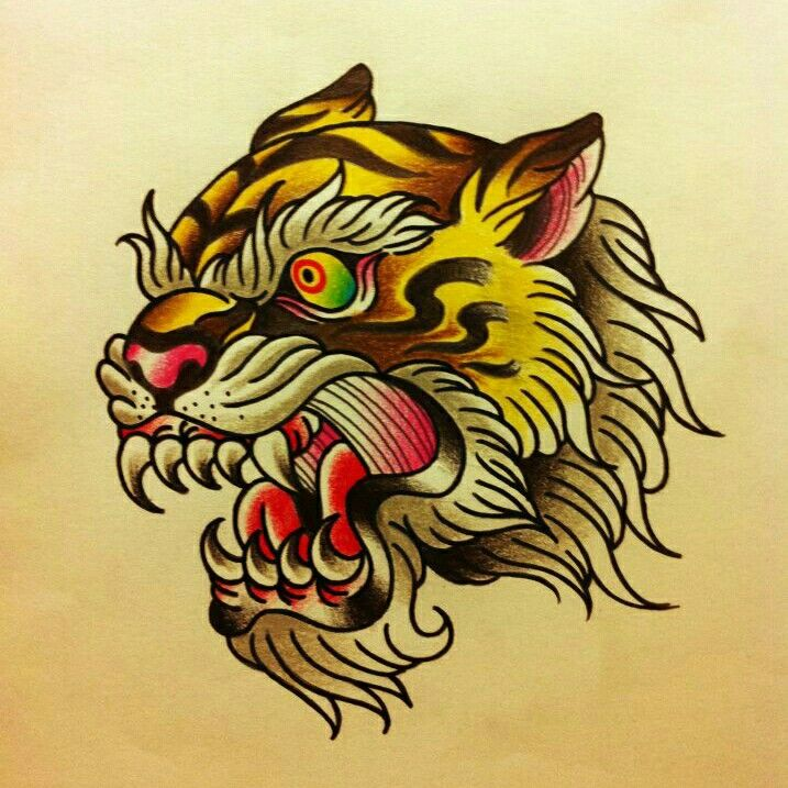 Traditional Tattoo Tiger Tattoo Ideas Tattoos Traditional