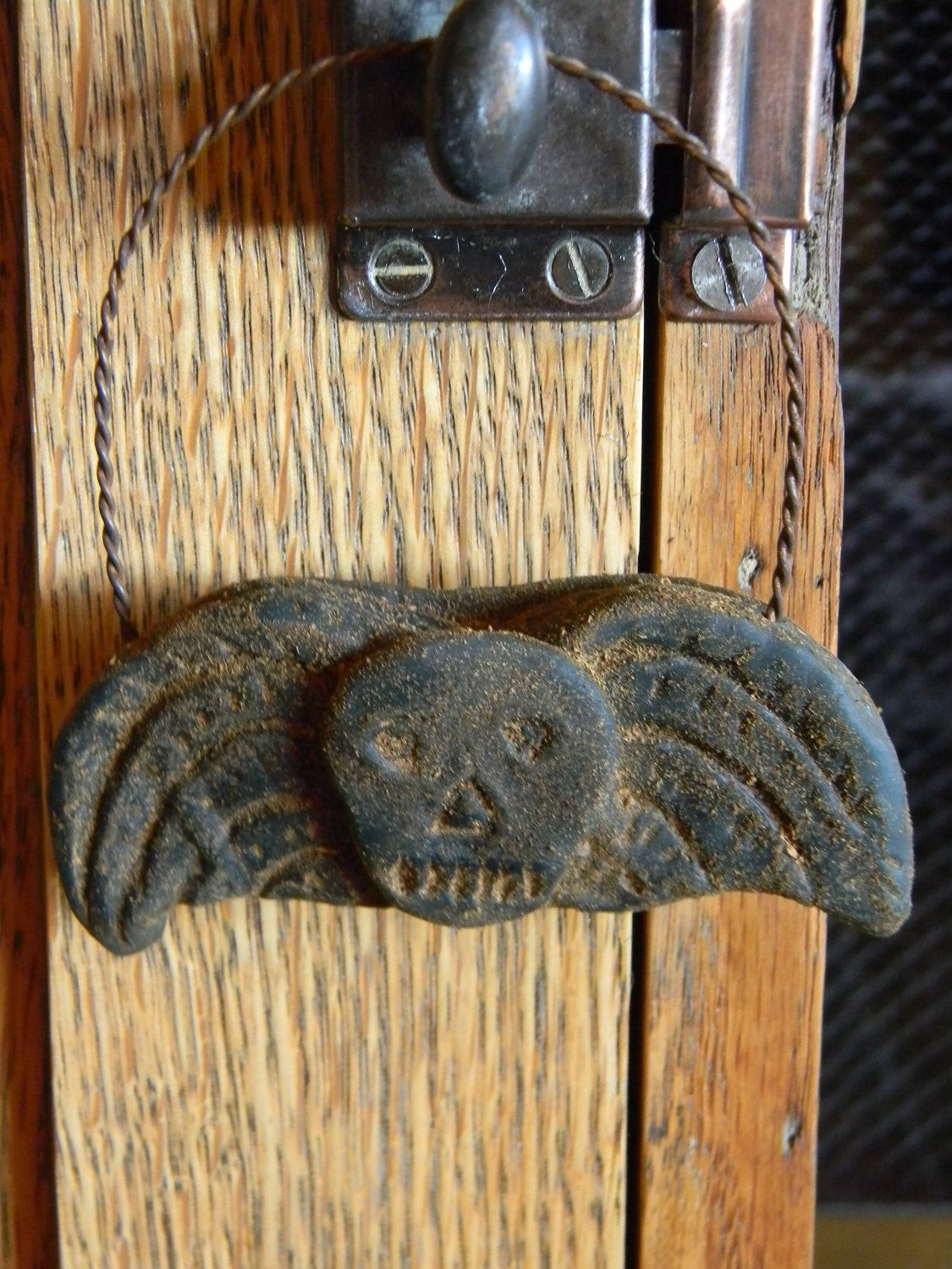 Skull Angel Primitive Halloween Ornies Bwahahahahahaaaaa - Primitive Halloween Decor
