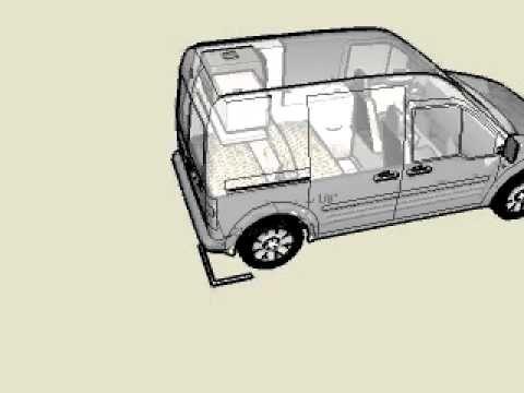 Transit Connect 2 Person 3 Quadraped Youtube Ford Transit Van