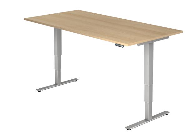 Sitz Steh Schreibtisch Elektrisch 200x100cm Eiche Tisch Hohenverstellbar Tisch Schreibtisch
