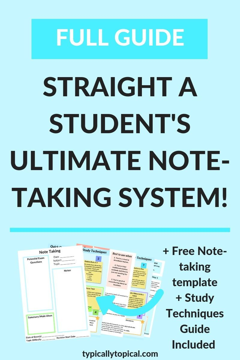 Straight A Student's Ultimate Note Taking Methods Study