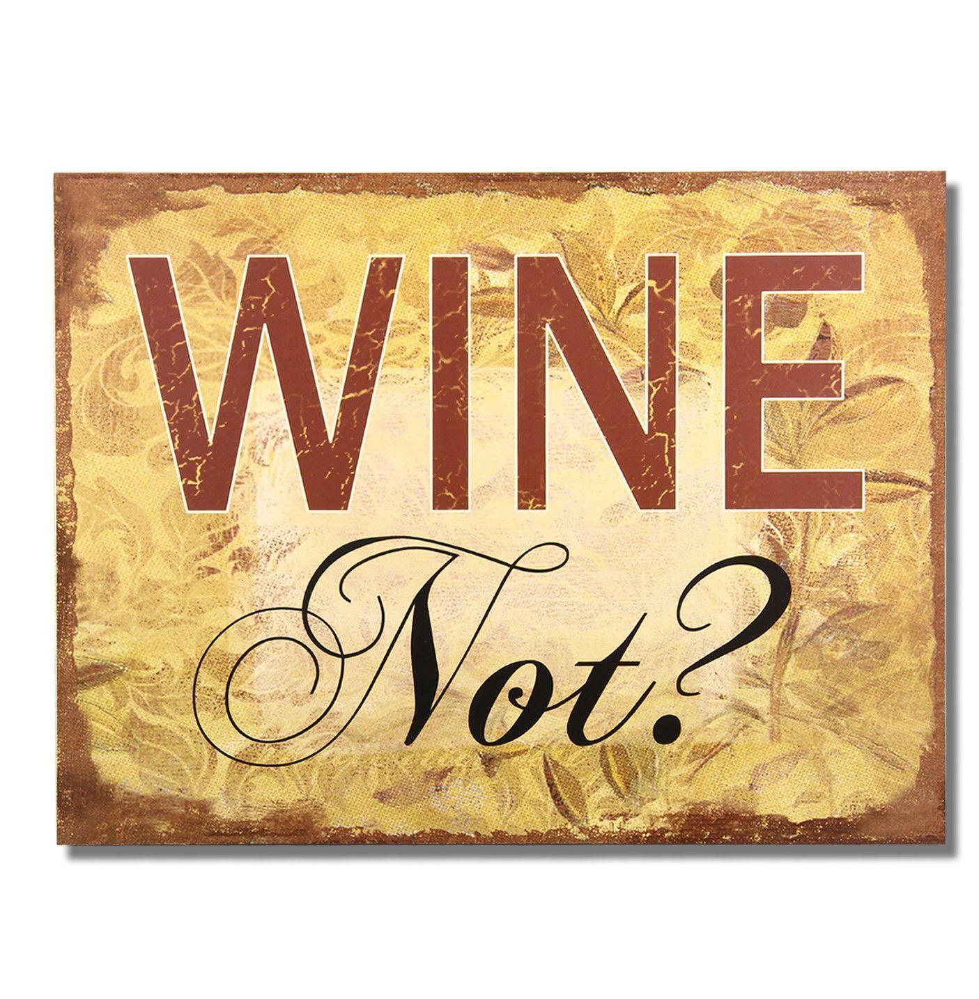 Wine Not?\