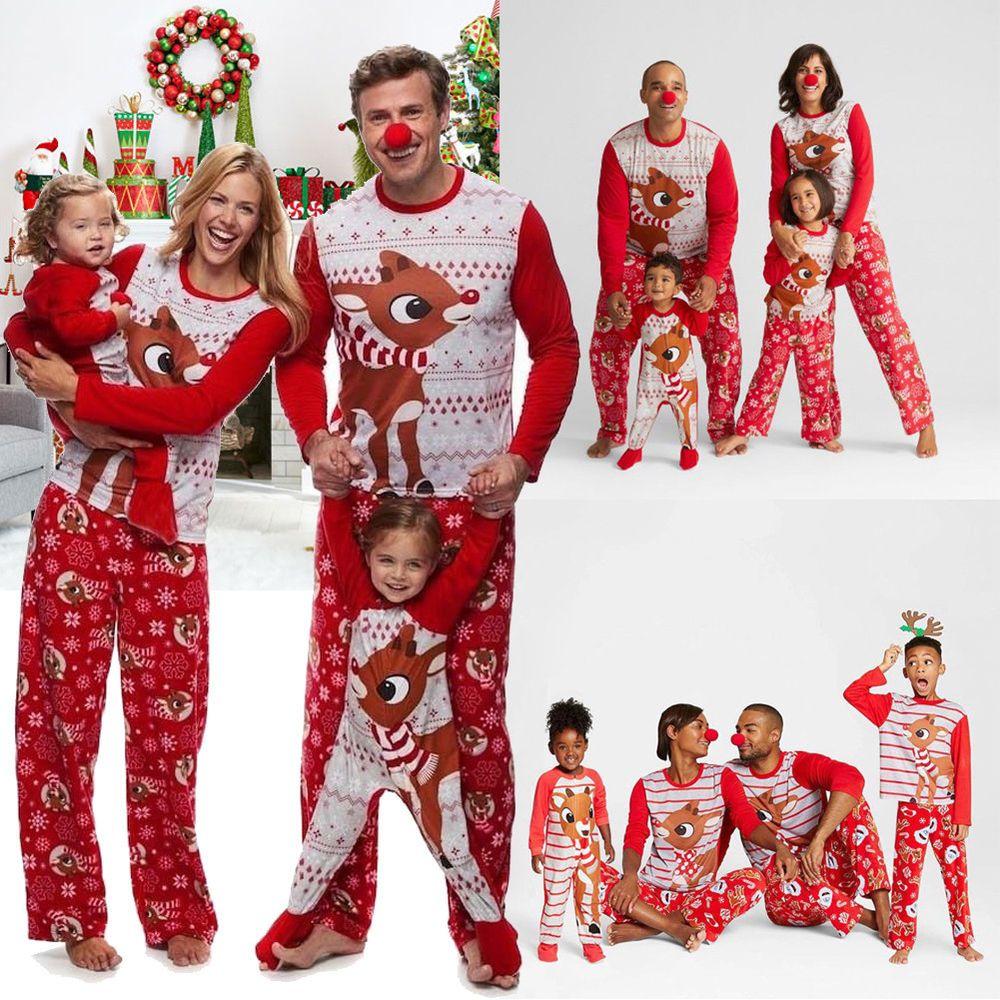 Family Christmas Pajamas Canada.Canada Christmas Family Pajamas Set Xmas Adult Women Kids